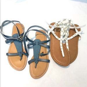 Bundle 2 pairs New Teal and White Sandal